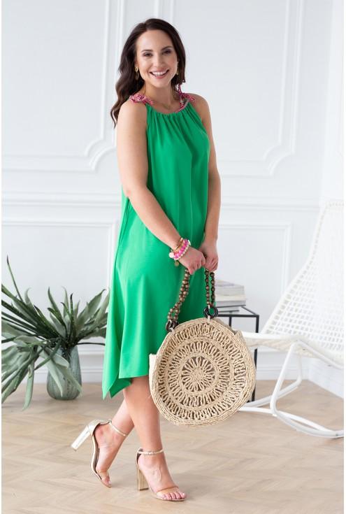 zielona sukienka na ramiączka xxl