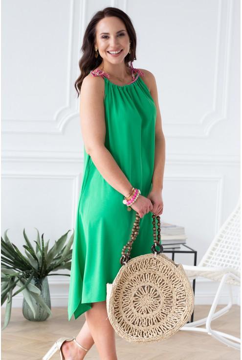 zielona sukienka trawiasta zieleń