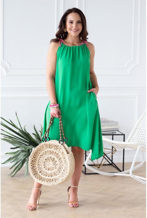 zielona sukienka duże rozmiary