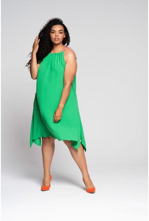 zielona sukienka Sami xxl