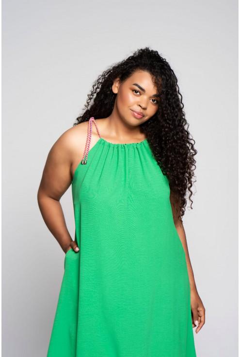 zielona sukienka Sami duże rozmiary