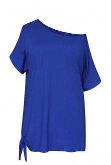 chabrowa bluzka z wiązaniem xxl