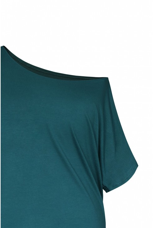 bluzka Deana kolor butelkowy