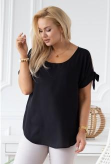 czarna szyfonowa bluzka xxl