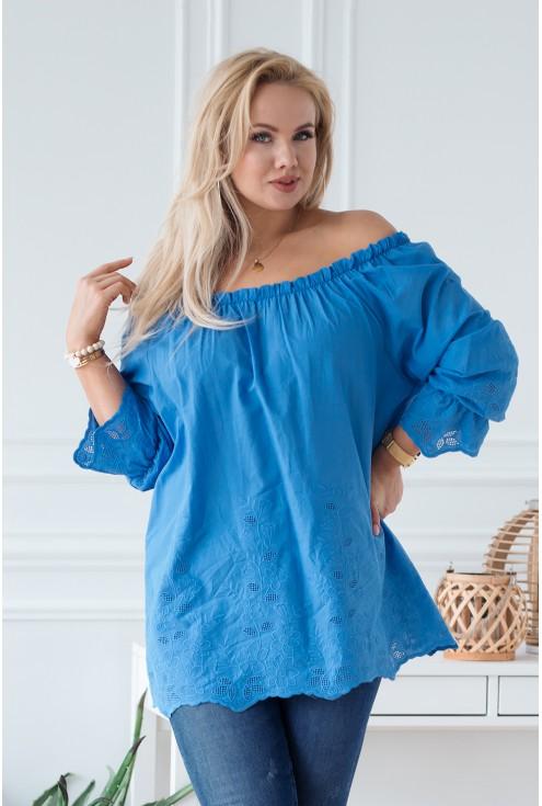 niebieska bluzka denise xxl