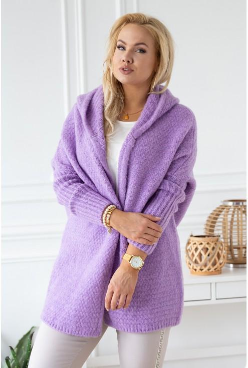 długi liliowy sweterek xxl
