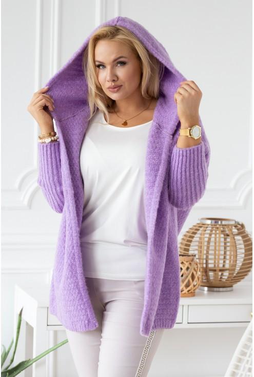 Liliowy sweterek, duże rozmiary