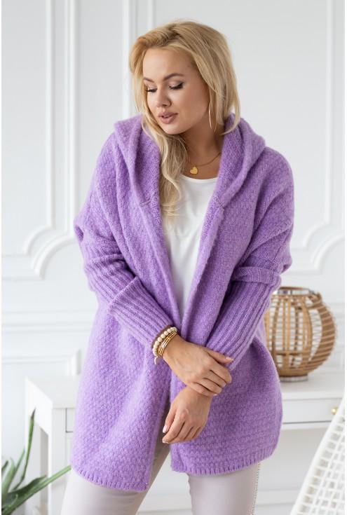 Sweterek liliowy ANGELE