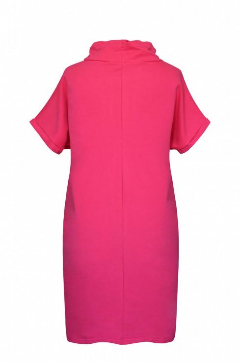 amarantowa sukienka Evelyne