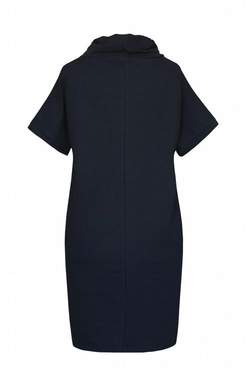 czarna tunika/sukienka z kieszeniami xxl
