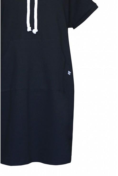 czarna sukienka z troczkami duże rozmiary