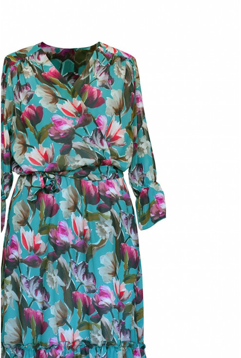 zielona sukienka maxi duże rozmiary