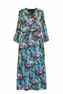 zielona sukienka maxi Rita - przód