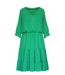 Jasnozielona sukienka z falbanami - Matilde