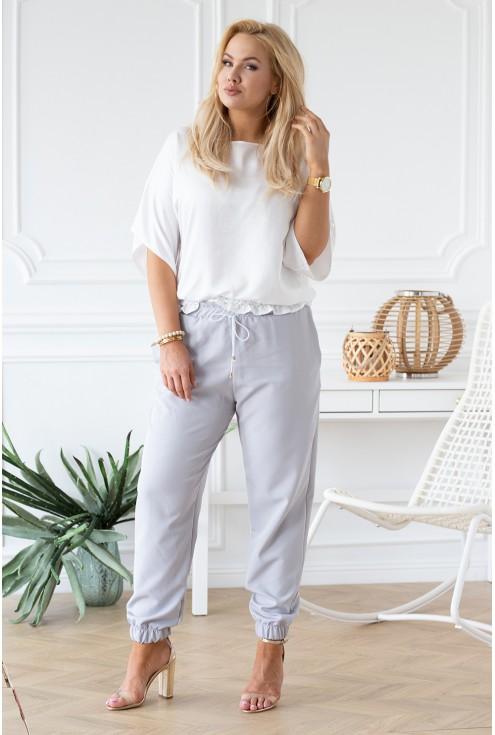 biała bluzka Malvina duże rozmiary