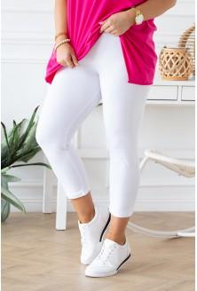białe legginsy plus size