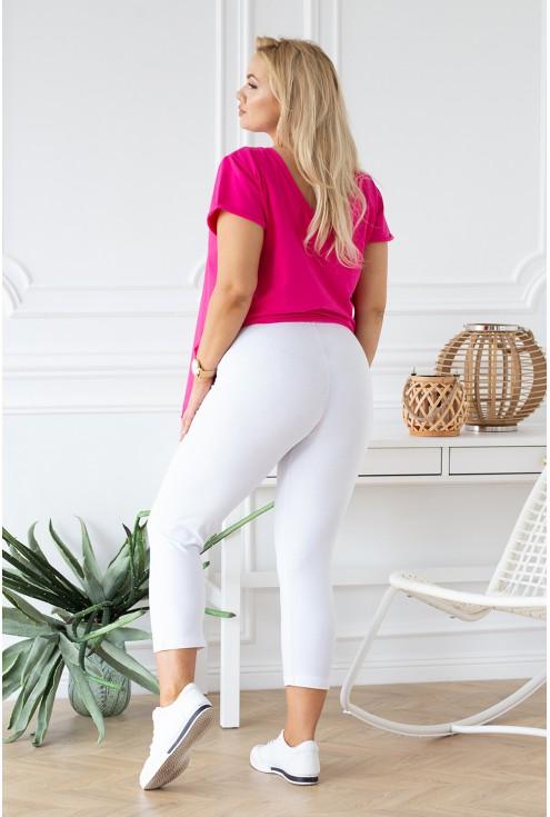 białe letnie legginsy xxl w sklepie XL-ka.pl