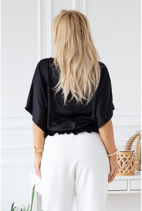 czarna bluzka Malvina xxl