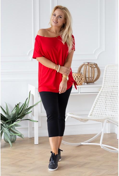 bluzka czerwona wiązanie XL-ka.pl