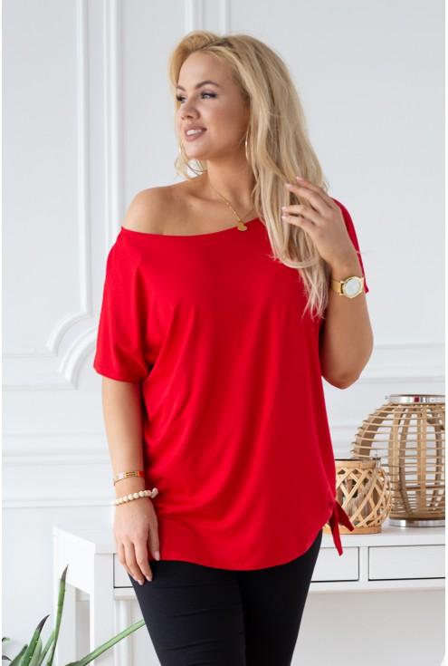 czerwona bluzka xxl