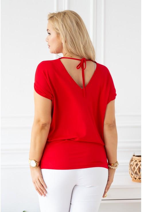 tył bluzki xxl czerwonej