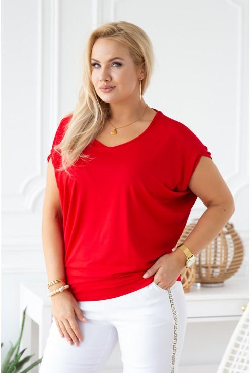 czerwona bluzka dora w sklepie XL-ka.pl