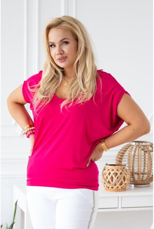 wygodna różowa bluzka plus size xxl