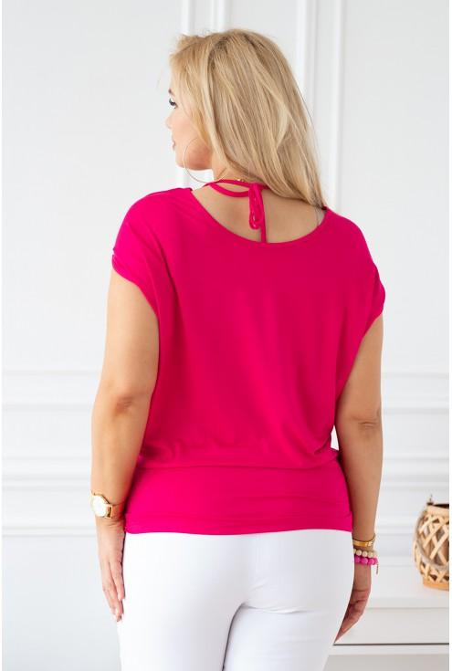 tył różowej bluzki xxl plus size