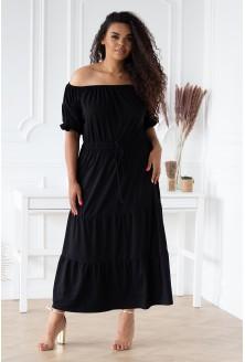 czarna sukienka maxi - plus size
