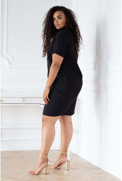 czarna tunika/sukienka z półgolfem