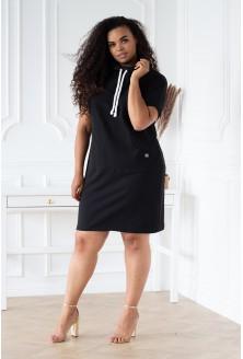 czarna tunika/sukienka plus size
