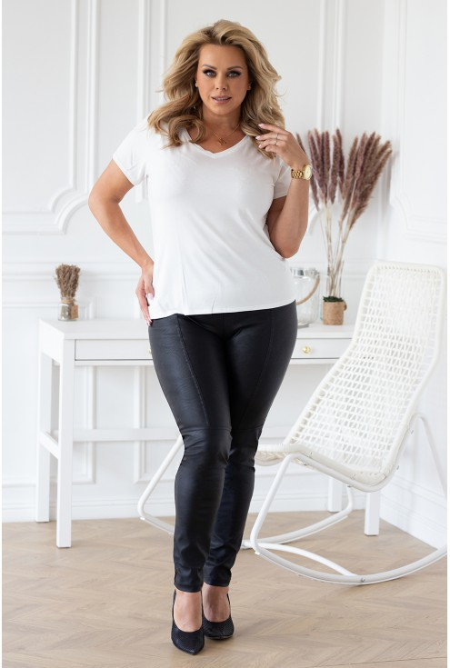 spodnie z eco skóry plus size czarne sklep xlka