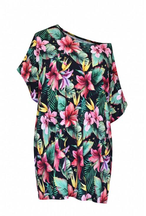 bluzka w kwiat lilii plus size xxl