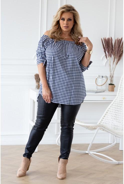 modna bluzka w kratę damskie duże rozmiary sklep XL-ka.pl