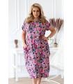 Kolorowa sukienka oversize z wiązaniem na plecach - GRACY