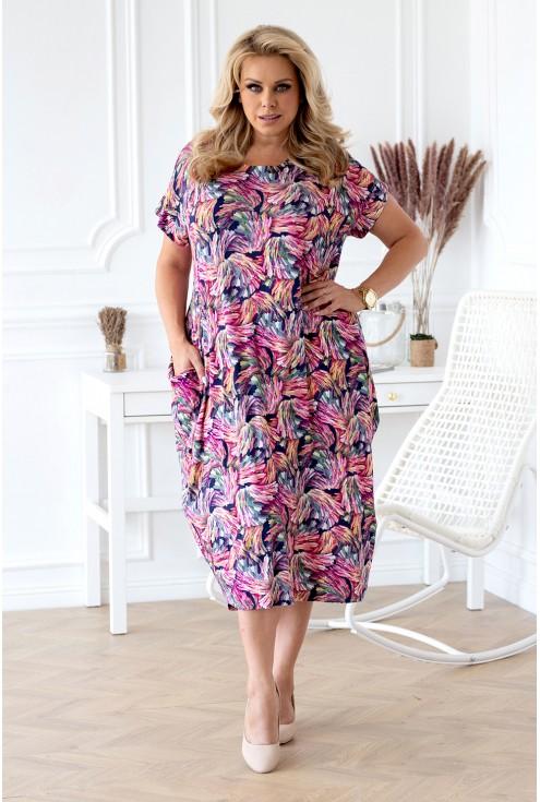 różowa sukienka oversize xxl