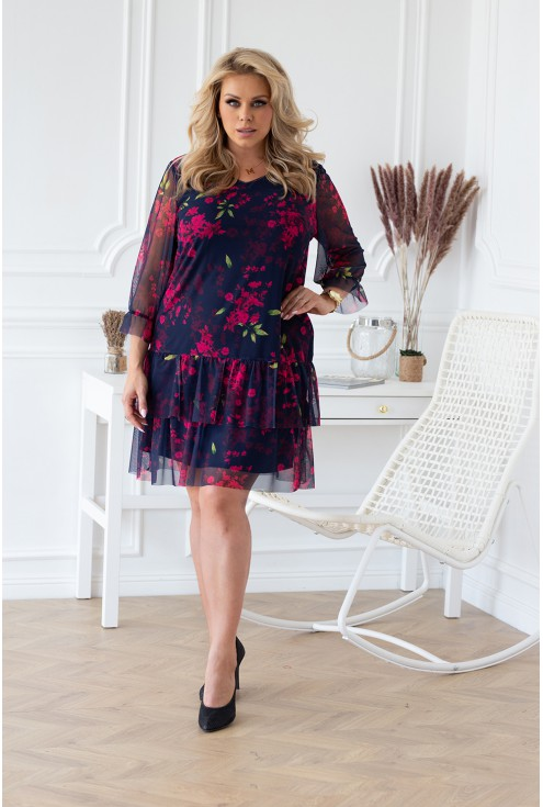 granatowa sukienka naomi w sklepie plus size XL-ka.pl
