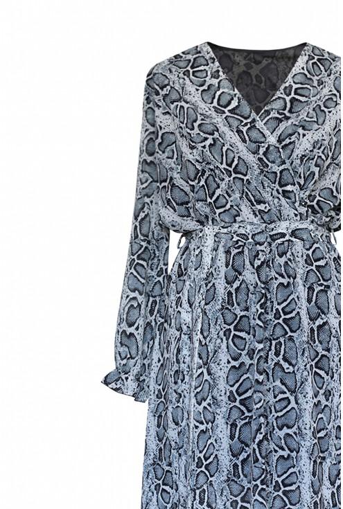 Jasna sukienka z wężowym wzorem