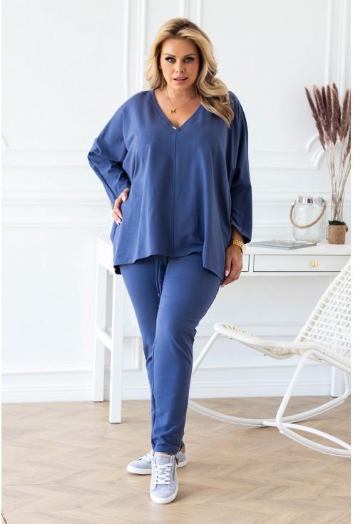 dres jeansowy damski w rozmiarach plus size