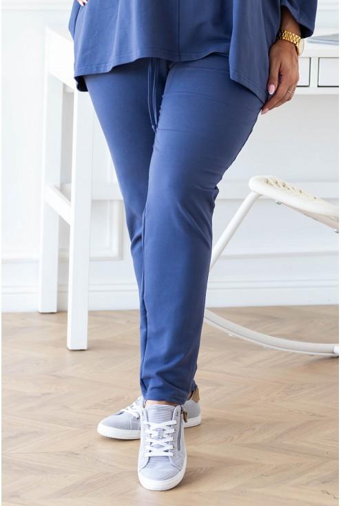spodnie dresowe plus size jeansowe