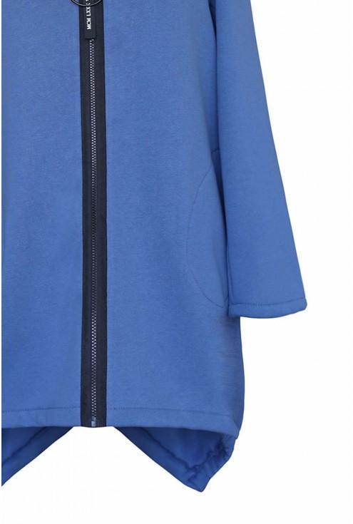Modna zapinana bluza damska w dużych rozmiarach