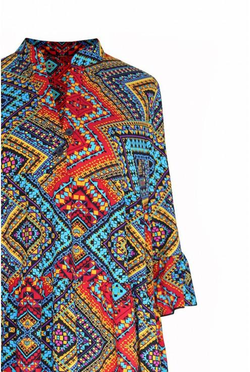 Sukienka SABINE z kolorowym wzorem