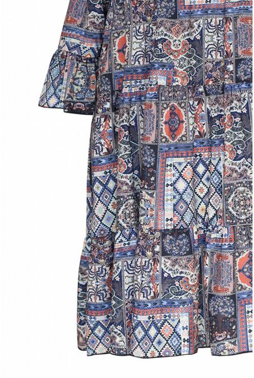 Sukienka boho z perskim wzorem SABINE
