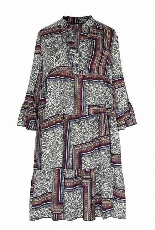 Sukienka boho z tureckim wzorem