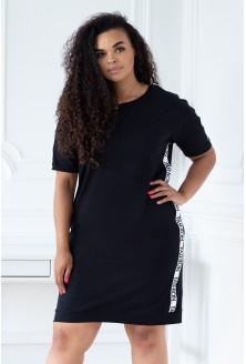 czarne sukienki adrienne plus size