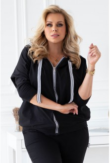 czarny dres rozpinana bluza xxl