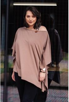 bluzka plus size z ozdobną taśmą