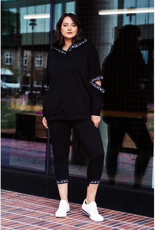 Czarny dres bluza + legginsy SOPHIE
