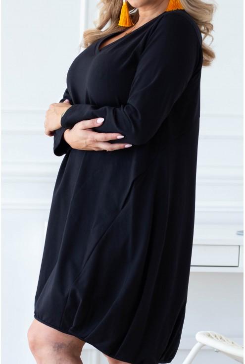 bok klasycznej dresowej sukienki xxl
