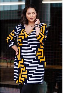 sukienka w modny wzór plus size
